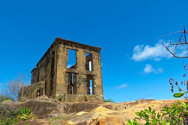 Old houses in ruins Architecture Blue Blue Sky Day No People Old Outdoors Ruins Sea Sky Textures And Surfaces Window