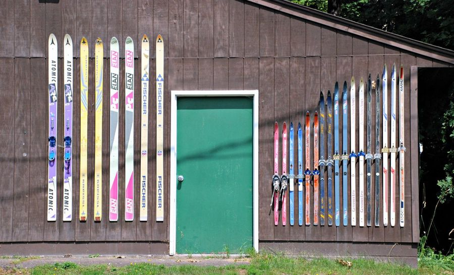 Skis & Door Design Decor Angles And Lines Colors