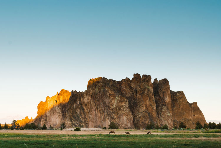 Smith Rock PNWonderland Rock - Object Landscape Outdoors No People Beauty In Nature Nature Blue Grass Scenics Mountain Clear Sky Sky Day Perspectives On Nature
