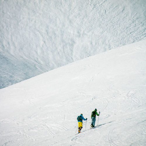 Alps French Alps Alpes AlpesFrancaises Mountain Snow ❄ Snowcapped Mountain Nature Day Outdoors Snow Snow Covered Altitude Frozen Cold Temperature White Background Ski Touring Off-piste Skiing High Altitude Sport Winter Two People Winter Sport Leisure Activity People Holiday Unrecognizable Person Vacations Trip White Color Adventure Beauty In Nature Men Mountain Range Warm Clothing Ice