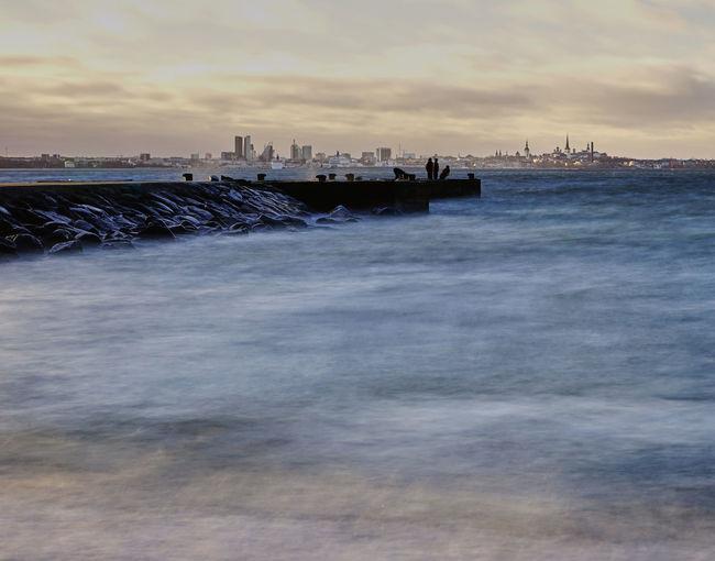 Pirita , Tallinn Estonia Estonia Tallinn, Long Exposure Exposure Low Angle View Sea