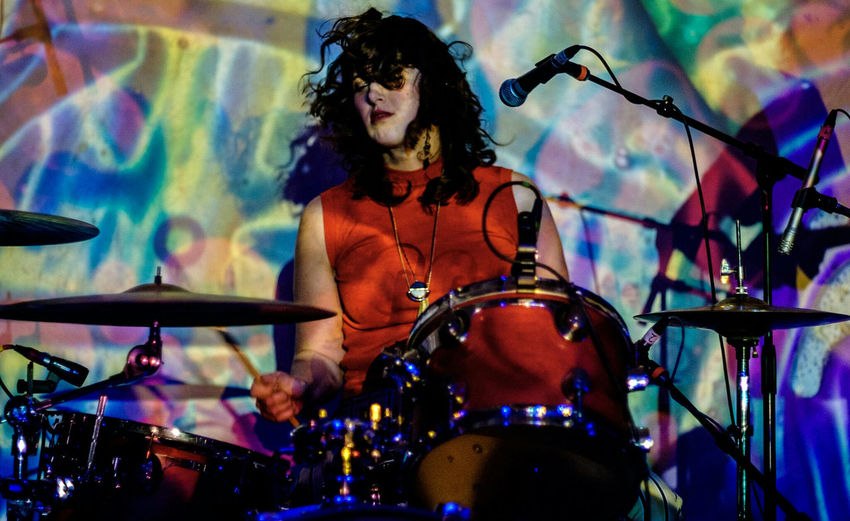Kristin of The Shivas. Pdxmusic music Arts Culture And Entertainment Performance Drummer Woman