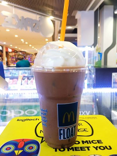 Ice Cream McDonald's Ovantin'float Drinking Glass Plusmull Bangyai