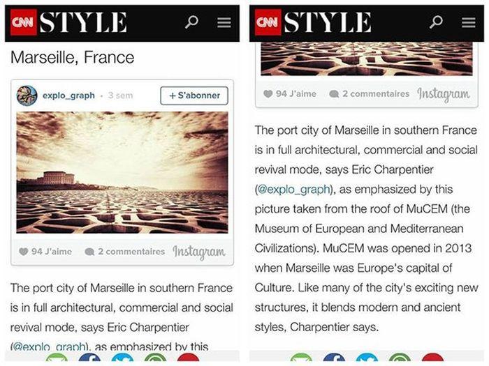 ✨ M E R C I 📺 @CNN pour la sélection de ma photo dans le cadre du projet CNNMyCity . 🙇 ============================ CNN souhaite montrer comment les villes du monde ont changé ces dernières années. 19 photos de 19 villes du monde sont mises en avant dans un article de Eoghan Macguire pour CNN. ============================ Ma photo du MuCEM a été retenue pour représenter la ville de Marseille. 〽✨ ============================ Le lien vers l'article se trouve ci-dessous. N'hésitez pas à y jeter un coup d'œil afin de découvrir l'intégralité de l'article et les autres photographies des différentes villes du monde. =========🔽🔽🔽🔽========== http://edition.cnn.com/2016/01/14/business/cnnmycity-amazing-city-pictures/index.html ============================ @cnn @cnnireport @igersmarseille @igersfrance @instagram Marseille Marseillerebelle Marseillecartepostale Marseillefr Igersfrance Igersmarseille Igm_marseillejetaime CNN Cnnstyle Mucem Architecture Archidaily Architectureporn Architecturelovers Bnw_captures Bnw_marseille  Bnw_france Marseilleinsolite Topfrancephoto Jaimelafrance Ig_great_pics Igerstoulon