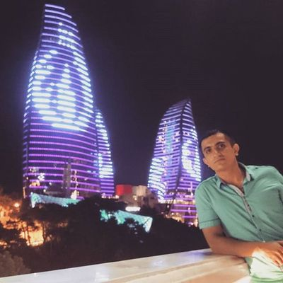 Dagustupark Night Baku ночной Баку
