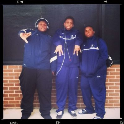 At The Track Meet Yesterday Wit My Bruhs