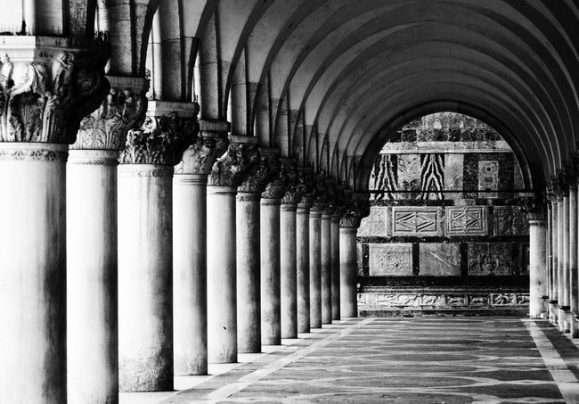 Columns Venice, Italy Columns Architecture Blackandwhite Photography Black And White Black&white