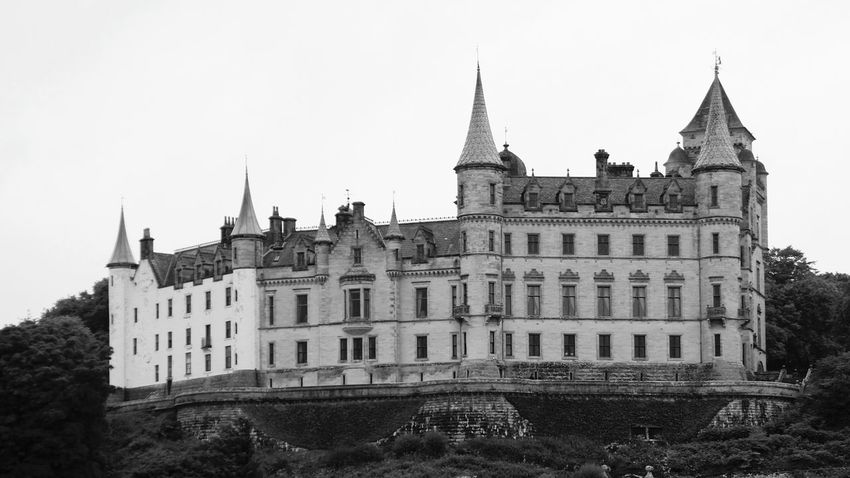 Scotland Dunrobin Castle Architecture History Travel Destinations Beauty In Nature Landscape_photography Landscape_Collection The Week On EyeEm Travel Photography EyeEm Selects EyeEmNewHere Bnw_collection Blackandwhite Black & White B&w Blackandwhite Photography Travel Architecture Landscape Architecture_collection Building Exterior Tree Castle No People