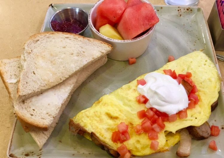 Starting the morning with Breakfast! Paint The Town Yellow Breakfast Omlette Food Stories