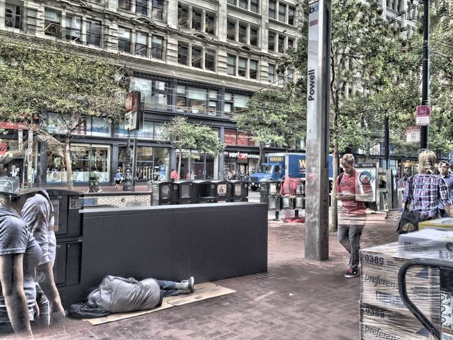 Street life, San Francisco City Life Urbanphotography Street Photography Homeless Man