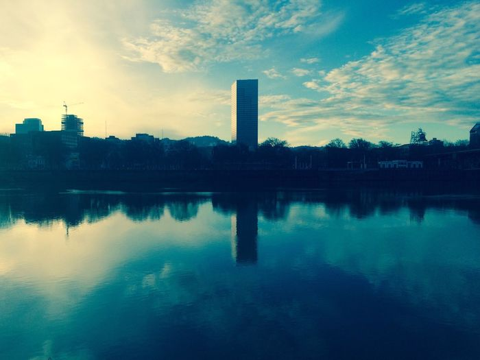 Cityscapes Water Reflections Sky Collection Clouds And Sky The Big Pink