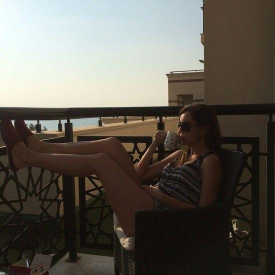 Enjoying the sea view