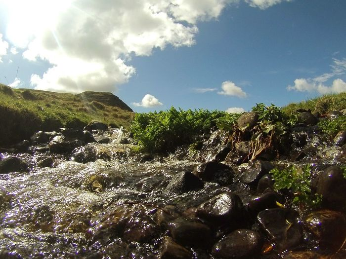 River Light And Shadow Wet Rocks Ireland Low Angle View Gopro Stream Countryside Sunlight Showcase April