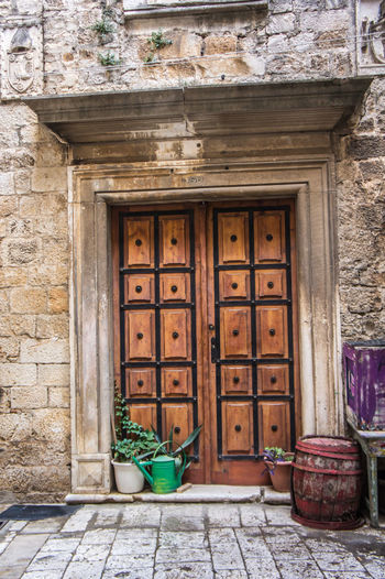 No People Nofilter No Filter Architecture Building Building Exterior Built Structure City Closed Day Door Doorway Entrance House No People Outdoors Trogir Wall Wood - Material
