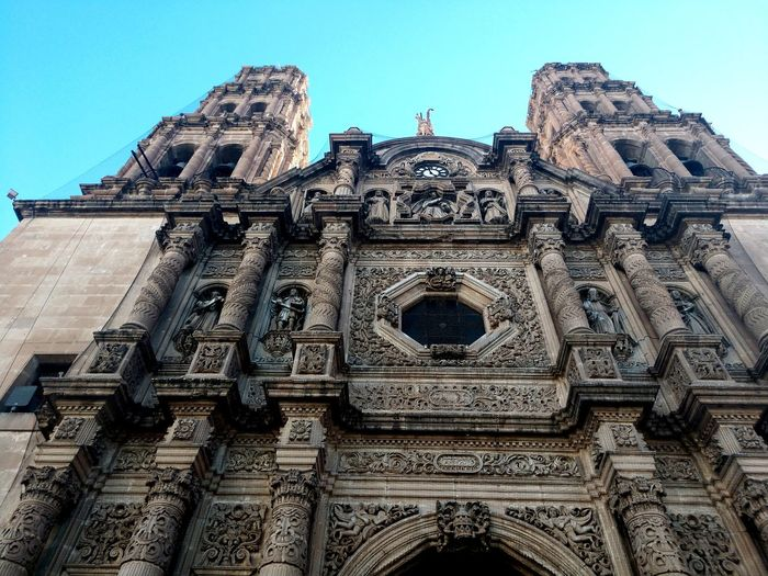 Church Chihuahua City Place Of Worship Spirituality Religion Sculpture Sky Architecture Building Exterior Built Structure Historic History Historic Building The Traveler - 2018 EyeEm Awards