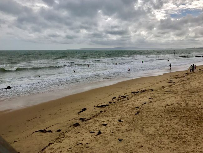 Beach Land Sea Water Sky Cloud - Sky Sand Horizon Horizon Over Water Beauty In Nature Scenics - Nature Nature Tranquility Day Tranquil Scene Wave Outdoors The Great Outdoors - 2018 EyeEm Awards