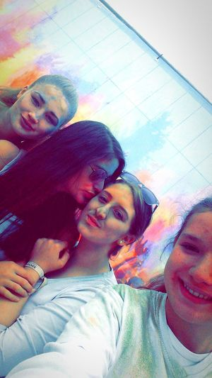 Having fun with my girls💜🎶Festival ColourFestival 2015  Funny Faces Mygirls Germany Colourful