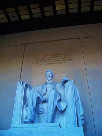 Lincoln Memorial Abraham Lincolmn Abraham Lincoln Abraham Lincoln Statue Abrahamlincoln Architectural Column Architecture Art Blue Built Structure Carving - Craft Product Craft Creativity Day Lincoln Memorial No People Outdoors Sculpture Statue Stone Travel Destinations Washington DC Washington, D. C. WashingtonDC Adventures In The City The Traveler - 2018 EyeEm Awards