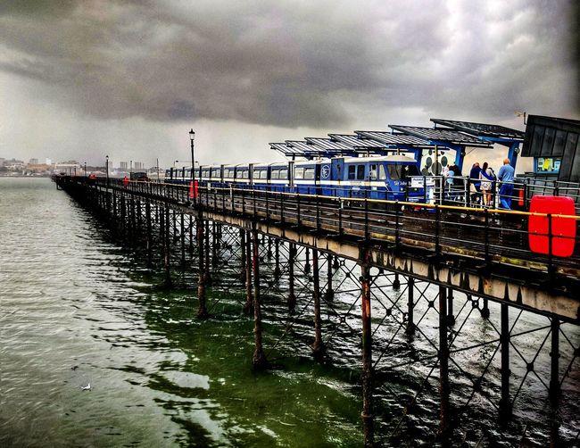 Pier Cloud - Sky Built Structure Architecture Train Ride Seascape Photography Essex Sunshine Coast Stormy Skies
