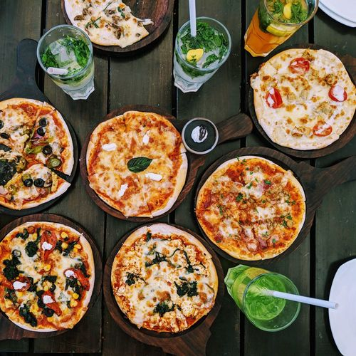 pieces of yum Pizza Food Food And Drink Ready-to-eat Plate Indoors  Table Temptation Italian Food Freshness Indulgence Day