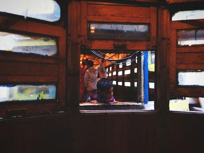 Peekaboo Window Kolkatainstagrammers Kolkatadiaries Glow Art Communication City Transportation Mode Of Transport Vintage Tram Tramway KolkataStreets Hometown Noir Memories Men City Life Journey Person