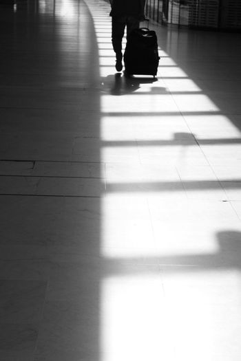 Travel Shadows & Lights Walking Traveller Charles De Gaulle Aeroport Lines And Shapes Lines Rythme Back Walk Walk This Way Steps Flight Before Leaving Taking Photos Eye4photography  EyeEm Gallery EyeEm Best Shots - Black + White Blackandwhite Between Temporary