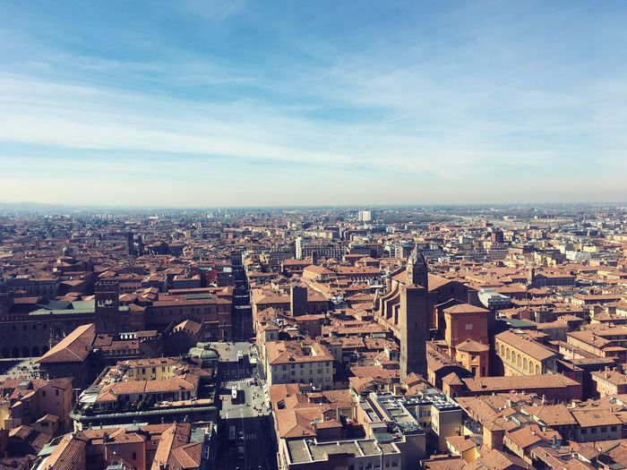 EyeEm Selects Photography Bologna Italy Architecture Cityscape Sky City Day Outdoors Cloud - Sky Torre Degli Asinelli