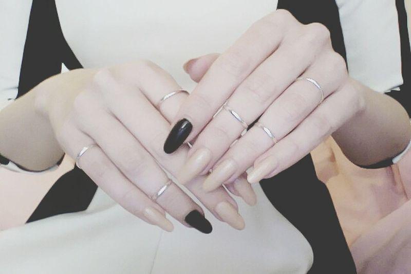 Nails Nails Art Rings Always Black