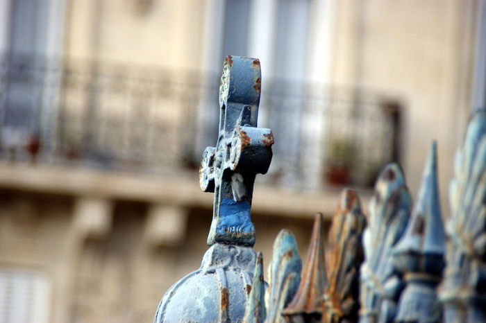 Beauty Blue Close-up Cross Focus On Foreground France Paris Rust Rusty The Cross Your Ticket To Europe