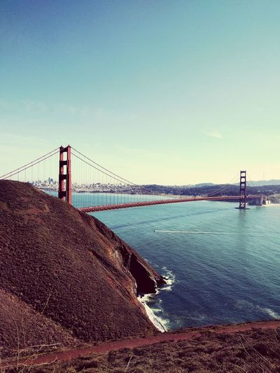 Sea Sky Bridge - Man Made Structure Water Business Finance And Industry Travel Destinations Outdoors Built Structure Suspension Bridge No People Day City Beauty In Nature Nature Architecture Golden Gate Bridge Finding New Frontiers