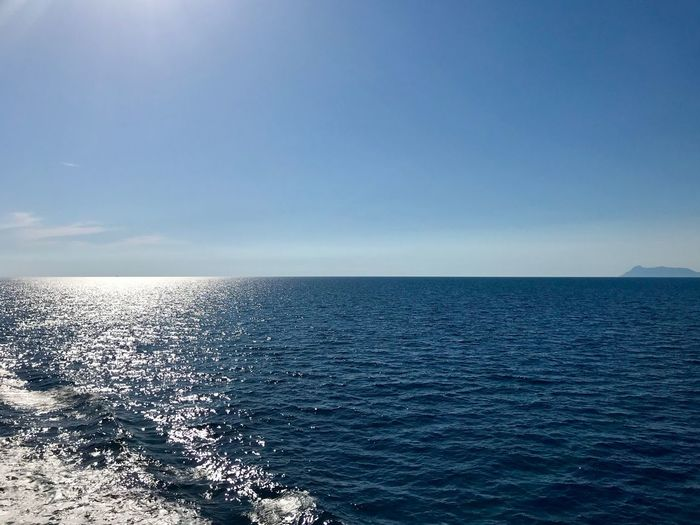 Sea Water Horizon Over Water Horizon Sky Beauty In Nature Scenics - Nature Nature Non-urban Scene No People Idyllic Tranquil Scene Tranquility Waterfront Blue Day Copy Space Outdoors Sunlight