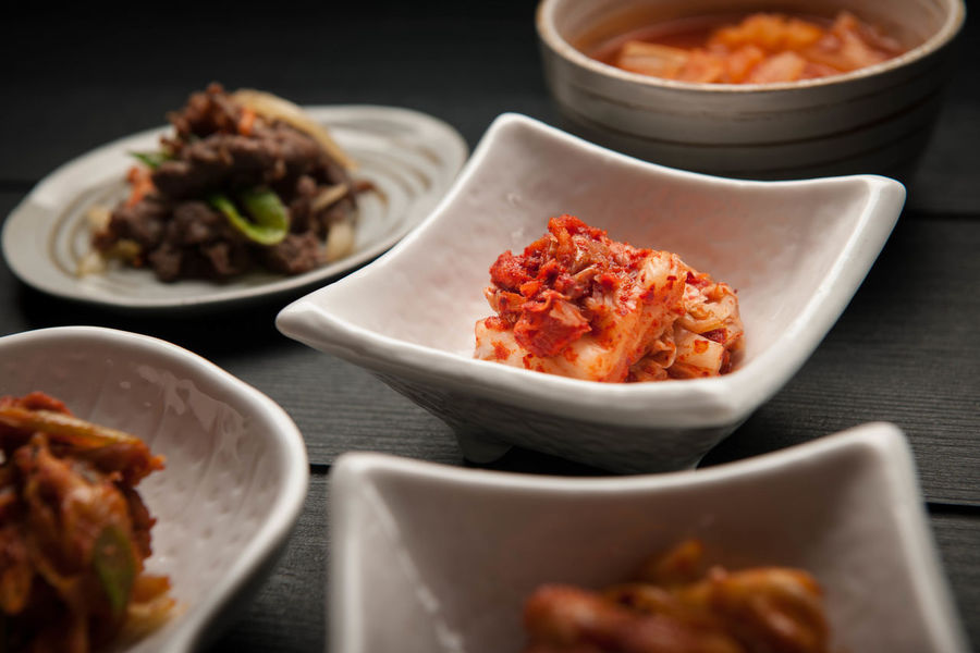 Korean Cuisine Asian Cuisine Kimchi Korean Cuisine Korean Food Side Dish Tapas Asian Food Food Plate Serving Size
