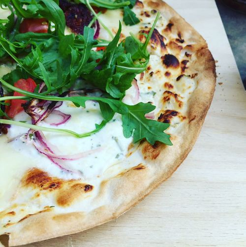 Flammkuchen Dinner Arugula Food Germany Food And Drink Close-up Meal Still Life