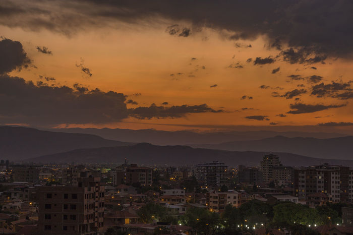 Cochabamba Sunset Andes Bolivia Cloud Cloudy Cochabamba Exploring Travel Architecture Beauty In Nature Bolivian Building Exterior Built Structure City Cityscape Dawn Dusk Mountain Nature No People Outdoors Residential  Sky South America Sunset Sunsets