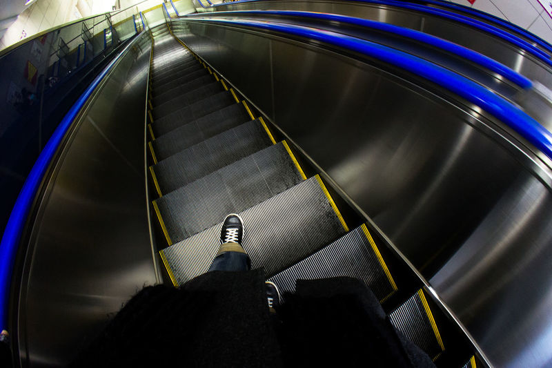 Leg Snap Escalator High Angle View Human Leg Indoors  One Person Snapshot Steps And Staircases The Week On EyeEm