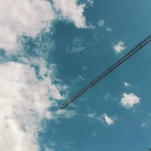 Blue Sky Sky Skyporn Sky And Clouds Sky_collection Crane Minimal Minimalism Minimalobsession