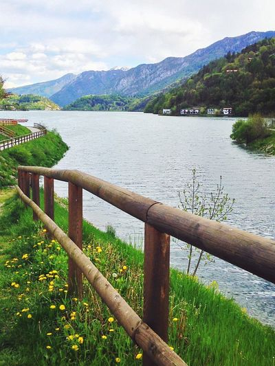 Lago Di Ledro Lake Nature Wood Fence Tree Green Springtime View Trentino  Italy The Great Outdoors With Adobe