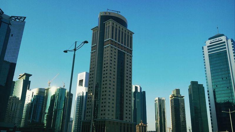 Sky Scrapers Qatar Hello World Middleeast