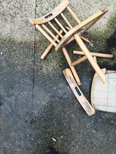 Chair Broken Chair Wood Trash