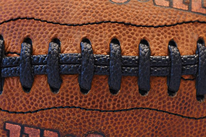 Game Macro Leather NFL Football NFL Football Pattern Textured  Brown Backgrounds Full Frame No People Close-up Outdoors