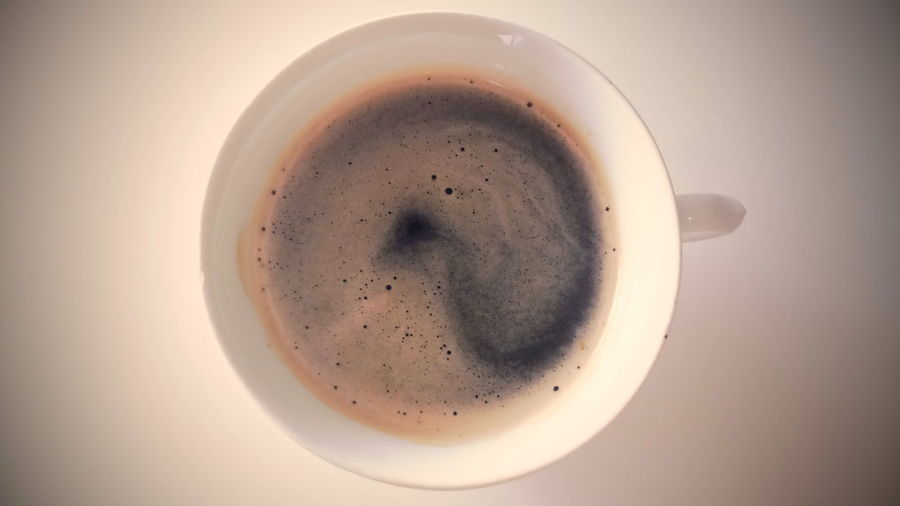 coffee Frothy Drink Drink Latte Drinking Glass Directly Above Coffee - Drink Table Milk Bubble Coffee Cup