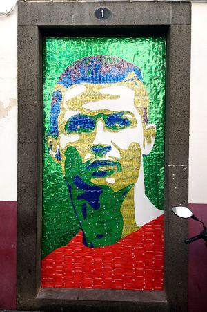 CR7 by teatro metaphora CristianoRonaldo Urban Art Thin Upcycling Camara De Lobos Visual Creativity