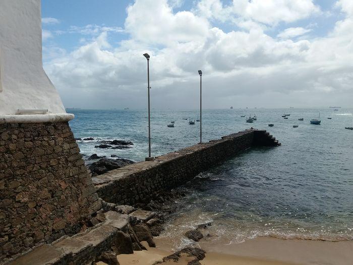 Paceful Sea And Sky Farol Beach No People