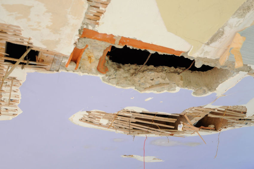 Ceiling Crisis Damaged Day Destruction Nautical Vessel No People Outdoors Water