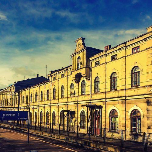Railway station somewhere in Poland Railwaystation Railway Aleksandrów Kujawski Aleksandrów Kujawski Cuiavia