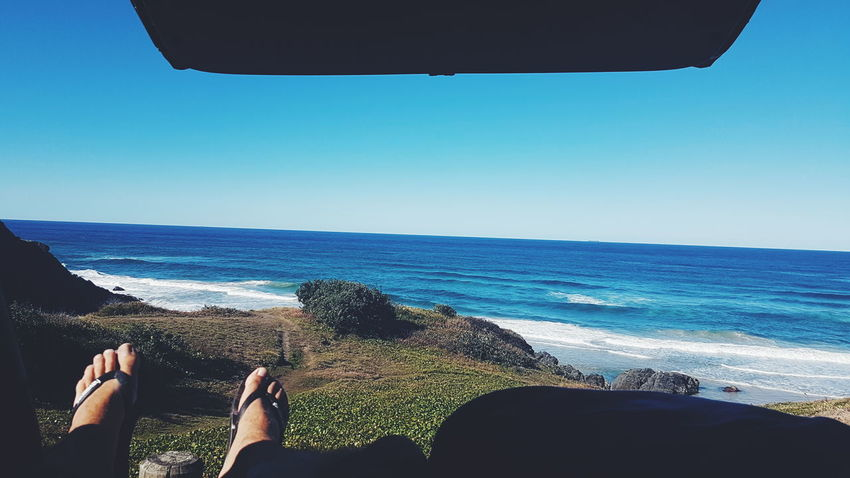 Van Life @ Hat Head National Park, Australia Sea Horizon Over Water Beach Water Only Women Adult One Person Adults Only Leisure Activity Vacations Nature Day People Relaxation Tranquility Clear Sky Outdoors Scenics Sky One Woman Only Australia Streetphotography Coastline Australian Landscape Australia Landscape_Collection EyeEm Selects Sommergefühle