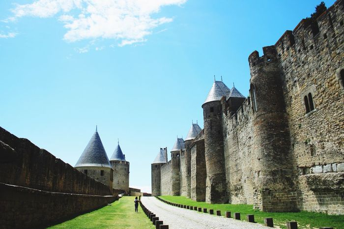 History Architecture Day Ancient Castle Built Structure Building Exterior Travel Destinations Outdoors No People Sky Ancient Civilization Medieval Castles Fort Carcassone, France Light And Shadow Travel Tourism The Past Ancient