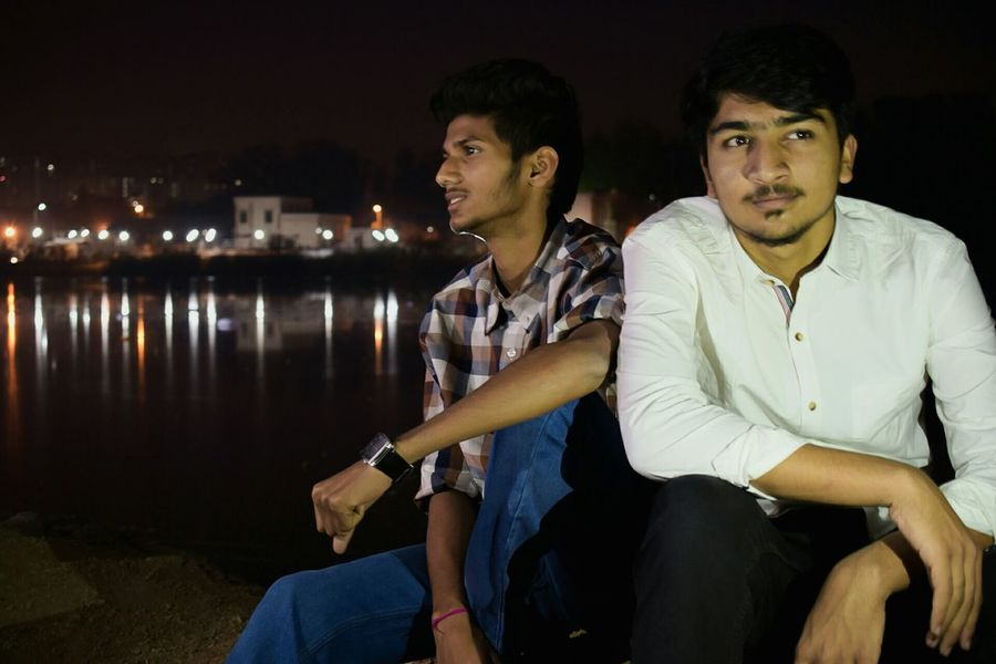 My Bffs Two People Night Friendship Lifestyles Nature Sky Landscape Landscapes Hyderabad Travel Destinations Men Outdoors Beauty In Nature Reflection Lake Water Water Reflections Waterfront Cloudscape Eyeemphoto Model