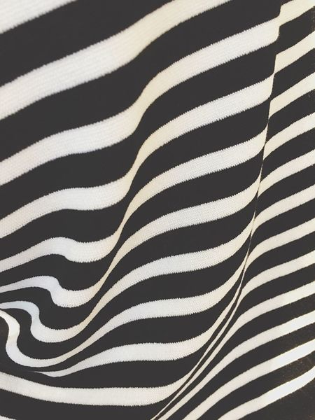 Stripes Black And White Sweater Pattern Illusion Fabric Wool Twisted