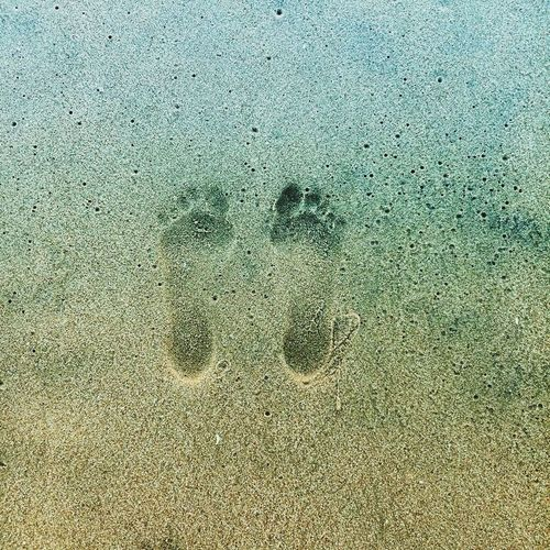 Full Frame Backgrounds Sand Beach My Footprint In The Sand